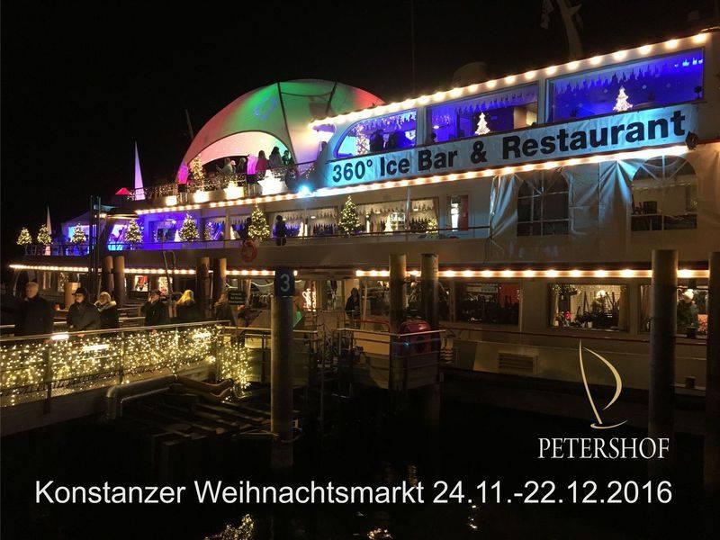 360° IceBar auf dem Weihnachtsmarktschiff im Konstanzer Hafen